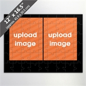 Custom 2 Picture Jigsaw Puzzle With Black Border