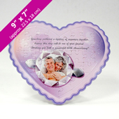 Purple Heart Shaped Personalized Photo Puzzle