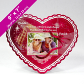 Pink Personalized Heart Shaped Photo Puzzle