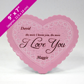 Custom Message Pink Heart Shaped Puzzle