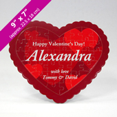 Personalized Heart Shaped Puzzle With Custom Message