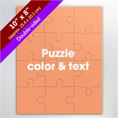 Make Your Own Double Sided 8X10 Inch Photo Puzzle
