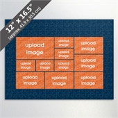 Design Own Blue Photo Collage Puzzle With 11 Photos
