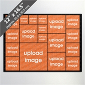 Custom Black Photo Collage Puzzle With 18 Photos