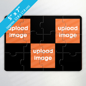 Personalized Full Color 3 Photo Puzzle Card