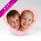 Custom Heart Shaped Puzzle With Standing Frame