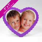 Personalized Heart Shaped Puzzle With Standing Frame