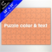 Custom Magnetic Puzzle In 18X24Inch With Background Color And Text For Business