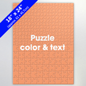 Large Custom Puzzle With Color And Text In Two Sizes Of Pieces