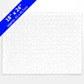 Blank 18X24 Traditional Puzzle (500 Pieces)