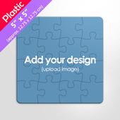 Square Plastic Puzzle 16 Pieces