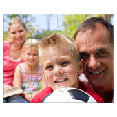8X10 Inches 3D Lenticular Family Puzzle 12 Pieces