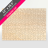 Blank Wood Jigsaw Puzzle Victorian Cut Pieces 287Pieces