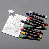 Mini Coloring Puzzle Card 3.5X5 Inch Landscape