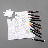 Custom 12 Pieces Crayon Puzzle 8X10 Inch Portrait