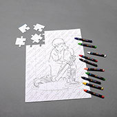 Custom Color Puzzle With Crayon 12X16.5 Inch Landscape