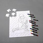 Personalized Color Puzzle With Crayon 54 Pieces Portrait