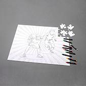 Custom 18X24 Inch Color Puzzle With Crayon Landscape