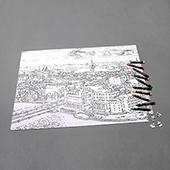 Personalized Large Coloring Puzzle 1000 Pieces Landscape