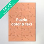 Custom Mini Jigsaw Puzzle Card 24 Pieces