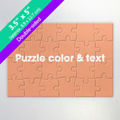 Double Sided Custom Small Promotional Puzzle