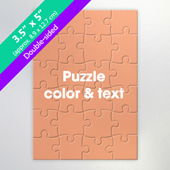 Double Sided Personalized Small Jigsaw Puzzle