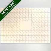 Blank Large Guest Book 209 Pieces Wooden Puzzle