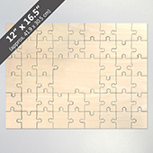 Blank 12X16.5 49 Piece Guest Book Wooden Puzzle