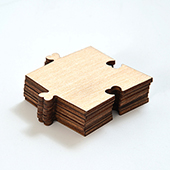 Blank Wooden Heart Shape Puzzle Piece