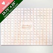 Laser Engraved 209 Heart Shaped Piece Wooden Guest Book