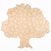 Custom Tree Shaped Guest Book Wooden Puzzle