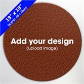 Custom 19 inch Round Wooden Puzzle 300 pcs
