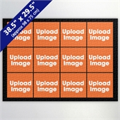 Black Twelve Collage 29.5 x 38.5 Inch