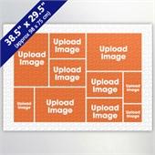 White Ten Collage 29.5 x 38.5 Inch