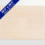 Blank Large Guest Book 281 Pieces Wooden Puzzle
