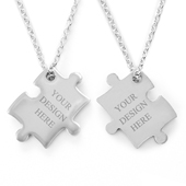 Puzzle Necklace Custom 2 Sides
