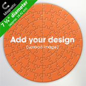 Personalized Magnetic 7.25 inch Round Puzzle