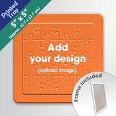 Custom 5 Square Inch Standing Puzzle With Printed Tray