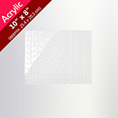 Clear 10X8 Acrylic Puzzle (100 Pieces)