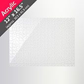 Clear 12X16.5 Acrylic Puzzle (285 Pieces)
