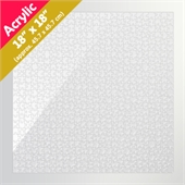 Clear 18x18 Acrylic Puzzle (650 Pieces)