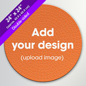 Custom Doube-sided 500 Piece 24 inch Round Puzzle