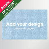 Custom 1000pcs Acrylic Puzzle 18x27.25 inch