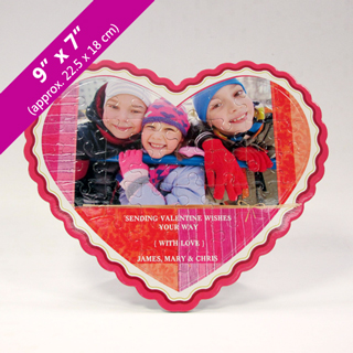 Heart Shaped Personalized Photo Puzzle