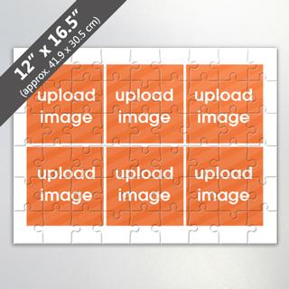 Custom 6 Picture Photo Collage Puzzle