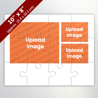 Custom 3 Photo Collage With Personalized Background