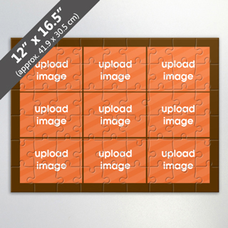 Custom 9 Picture Puzzle For Corporate Gift In Brown
