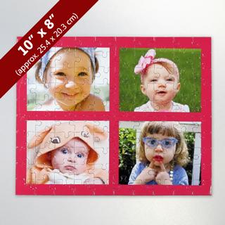 Custom 4 Photo Jigsaw Puzzle Collage