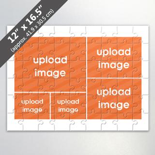 Custom 5 Photo Collage Puzzle