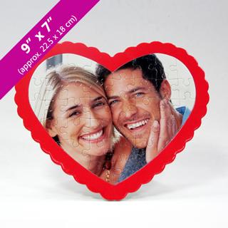 custom heart jigsaw